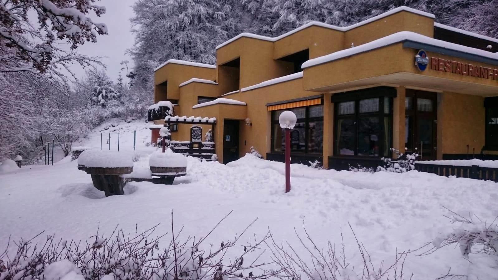 Die Pension Reichelsmühle im Trubachtal im Winter